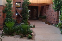 Courtyard entry,