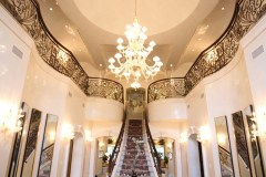 Grand staircase, Grand foyer, dome with chandelier,