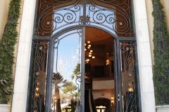 Metal and glass door, metal door, glass door, Grand entry