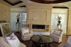 Stone fireplace,
