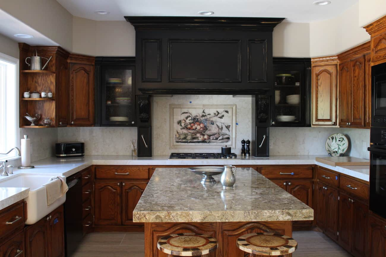 Kitchen with Dark Hood