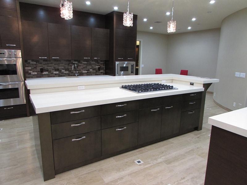 bronze-finished-island-kitchen-