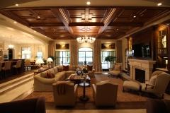 Living Room, parquet ceiling, wood ceilings