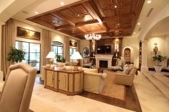 Living Room, parquet ceilings,