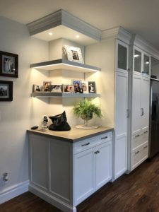 Shelves with undercounted lighting