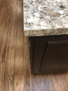 Island and Flooring Contrast