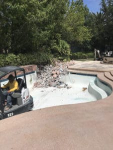 Old Pool getting dug up