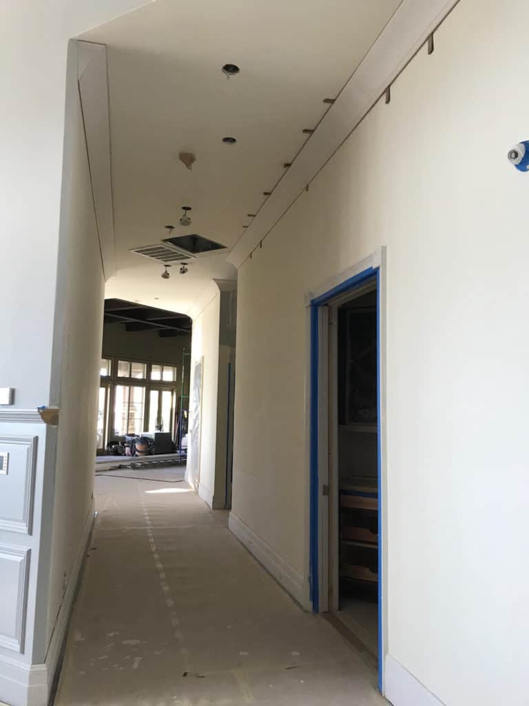 Hallway during Demo