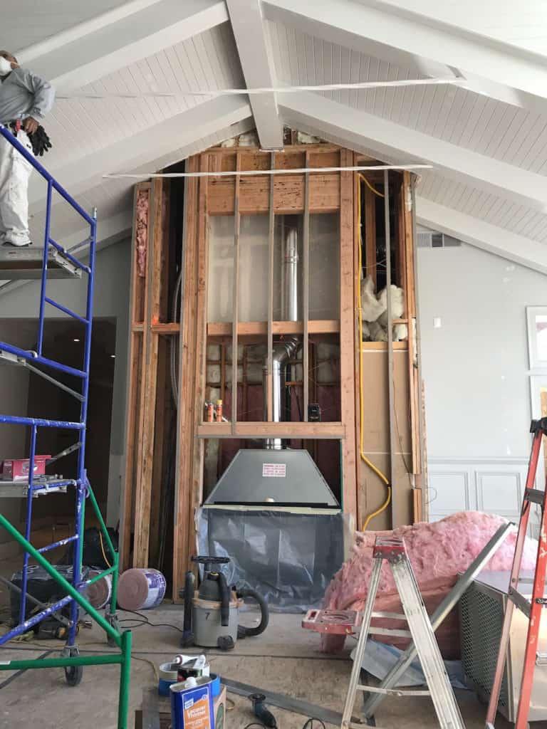 Framing during interior remodel
