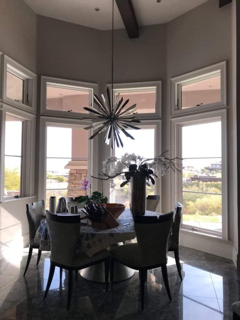 Breakfast Nook - New floor, New Windows on this interior remodel